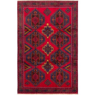 ecarpetgallery Finest Rizbaft Red Wool Rug (7'5 x 11'3)