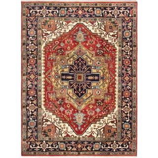 ecarpetgallery Serapi Heritage Brown Wool Rug (9' x 11'10)