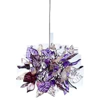 Violet Frost Pendant Hanging Light