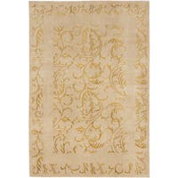 ecarpetgallery Silk Touch Beige Wool and Silk Rug - 5'7 x 8'1