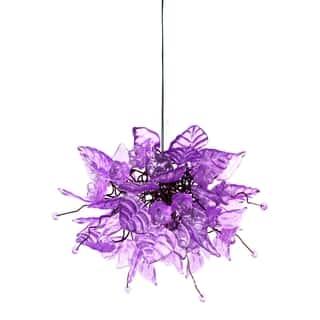 Buy purple ceiling lights online at overstock our best lavender frost pendant hanging light aloadofball Gallery
