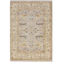 ecarpetgallery Royal Ushak Grey Wool Rug (4'4 x 6'2)
