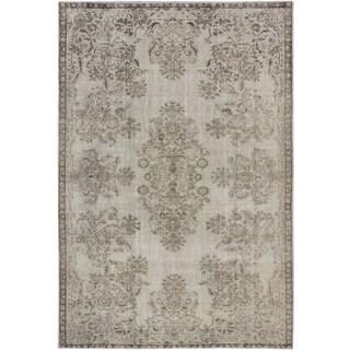 ecarpetgallery Color Transition Grey Wool Rug (6' x 9')
