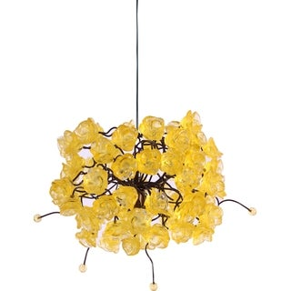 Citrus Gold Rosettes Pendant Hanging Light