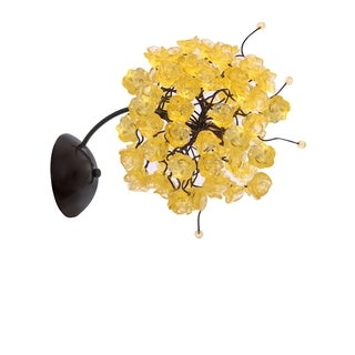 Citrus Gold Rosettes Wall Sconce