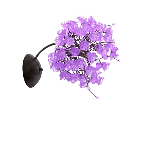 Lilac Rosettes Wall Sconce