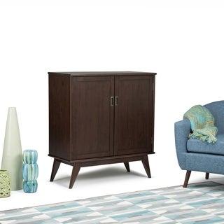 """WYNDENHALL Tierney Solid Hardwood 39 inch Wide Mid Century Modern Medium Storage Cabinet - 39""""w x 17""""d x 42"""" h"""