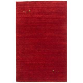 ecarpetgallery Kashkuli Gabbeh Red Wool Rug (6' x 9')