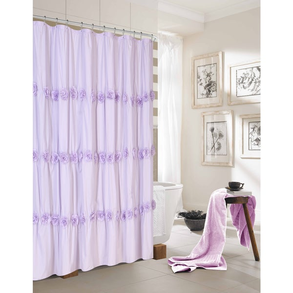 Dainty Rosette Shower Curtain