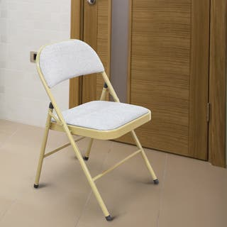Tubular Steel Golden/ Grey Power Coated Folding Chairs (Set of 2)|https://ak1.ostkcdn.com/images/products/10993110/P18013463.jpg?impolicy=medium
