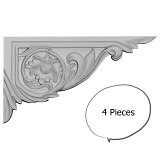 Rose Stair Brackets Right 4-pieces
