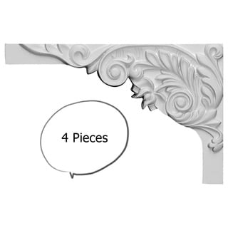 Acanthus Stair Brackets Left 4-pieces