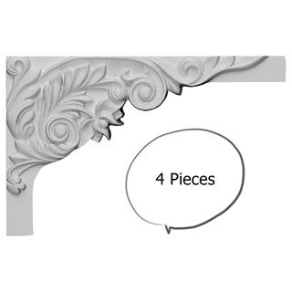 Acanthus Stair Brackets RIGHT 4 Pieces