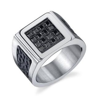 Men's Black Cubic Zirconia Style Ring