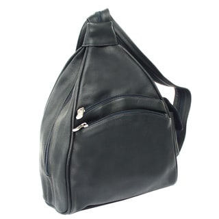 Piel Leather Two-Pocket Sling Backpack