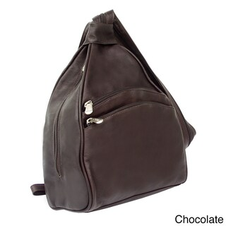 Piel Leather Two-Pocket Sling Backpack (3 options available)