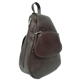 Piel Leather Flap-Over Sling Backpack
