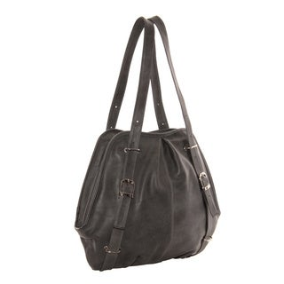 Piel Leather Convertible Buckle Backpack/Shoulder Bag
