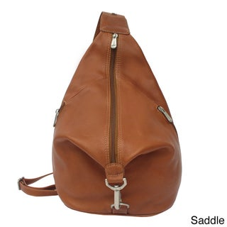 Piel Leather Three-Zip Hobo Sling Backpack (3 options available)