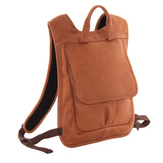 Piel Leather Slim Laptop Flap Backpack