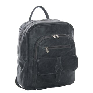 Piel Leather Medium Buckle Flap Backpack