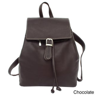 Piel Leather Top Flap Drawstring Backpack (3 options available)
