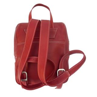 Piel Leather Slim Front Pocket Backpack