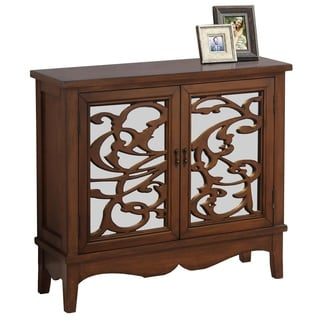 Dark Walnut / Mirror Traditional Style Accent Chest