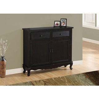 ACCENT CHEST - ANTIQUE BLACK TRANSITIONAL STYLE