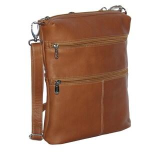 Piel Leather Convertible Multi-Pocket Shoulder Bag/ Backpack