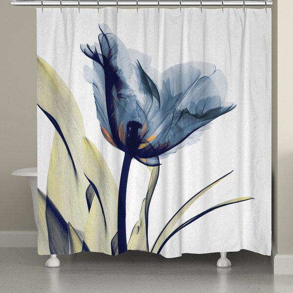 Laural Home X-Ray Tulip 71 x 72-inch Shower Curtain