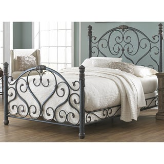 Fashion Bed Group B1136 Duchess Cerulean Marble Bed with Side Rails and Carved Castings