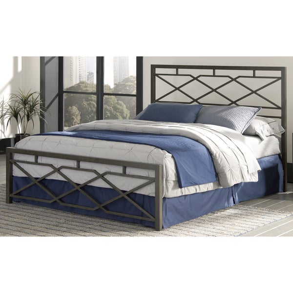 Fashion Bed Group B4116 Alpine Snap Rustic Pewter Bed With