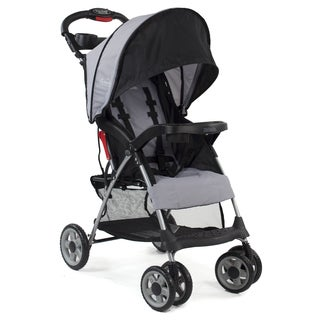 Kolcraft Cloud Plus Slate Lightweight Stroller with 5-point safety system and Recling Seat