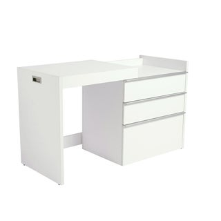 Dew Convertible Desk - White