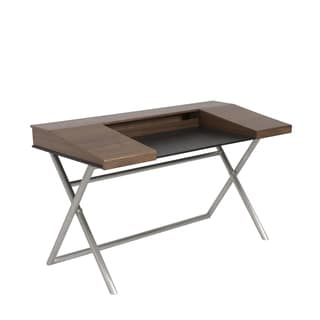 Cruise Desk - Walnut/Brushed Stainless Steel