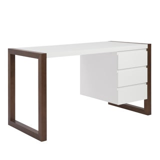 White/Walnut Manon Desk