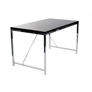 Black Lacquer/Chrome Gilbert Desk