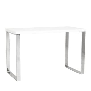 Dillon Desk - White Lacquer/Polished Stainless Steel