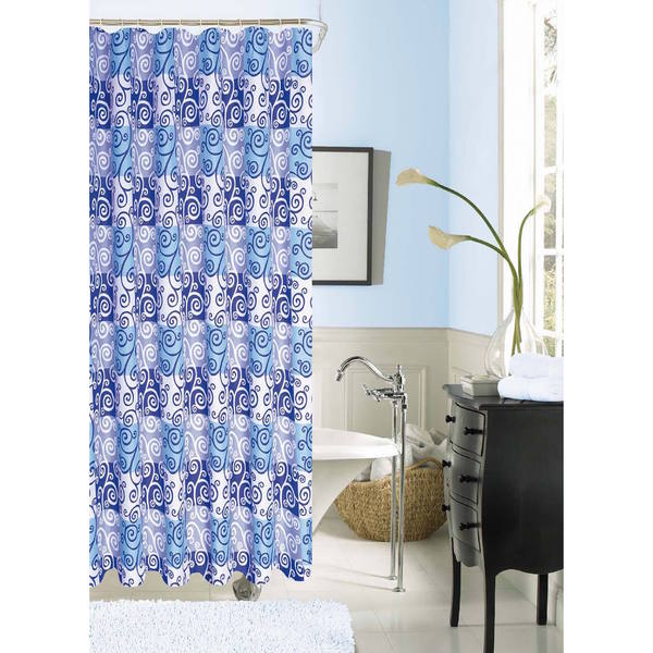 """Palace Linens Kate 72"""" x 72"""" Luxurious Fabric Shower Curtain"""