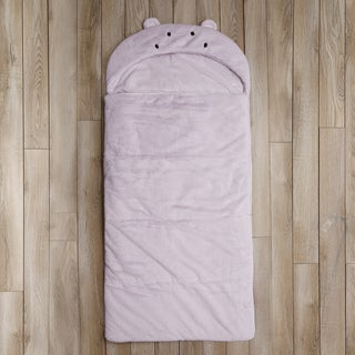 Aurora Home Hippo Plush Faux Fur Sleeping Bag