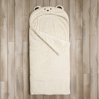 Aurora Home Bear Plush Faux Fur Sleeping Bag