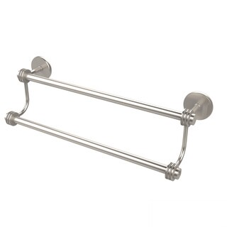 Allied Brass Satellite Orbit Two Collection 24-inch Dotted Accent Double Towel Bar