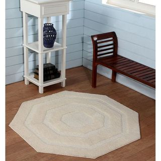 Micro-tufted Octagonal/ Indoor Accent Rug By Better Trends (2 options available)