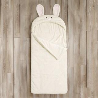 Aurora Home Bunny Rabbit Plush Faux Fur Slumber Bag (Option: Off White)