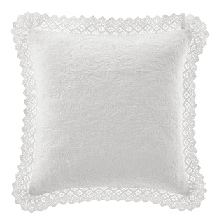 Link to Laura Ashley Crochet White Décorative Pillow Similar Items in Decorative Accessories