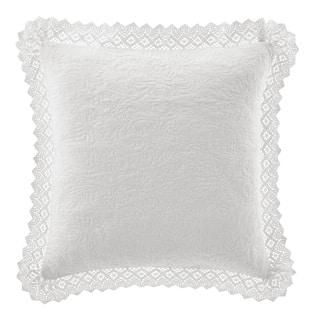 Laura Ashley Crochet White Décorative Pillow|https://ak1.ostkcdn.com/images/products/10995885/P18015790.jpg?impolicy=medium