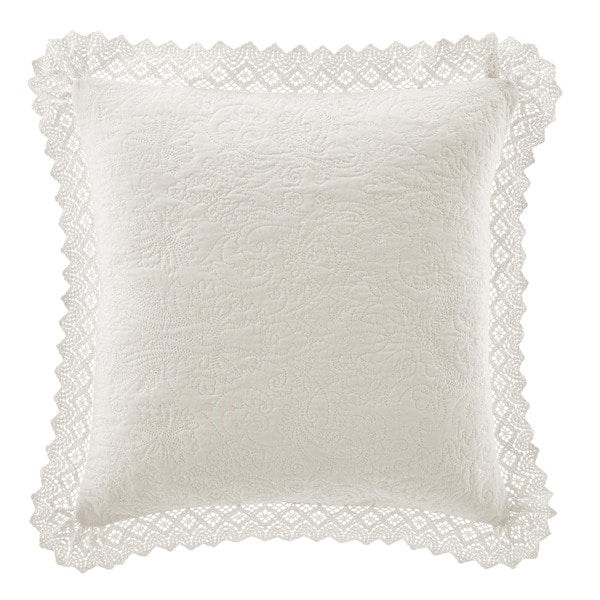 Shop Laura Ashley Crochet Ivory Decorative Pillow Free Shipping On Unique Laura Ashley Decorative Pillows