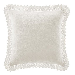 Laura Ashley Crochet Ivory Decorative Pillow