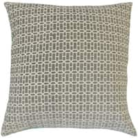 Yancy Geometric Down and Feather Filled 18-inch Throw Pillow